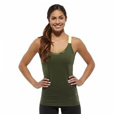 Reebok Les Mills Womens Playice Bodypump Gym Training Hit Grit Tank Vest Top S