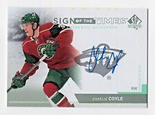 2013 SP Authentic SOT Charlie Coyle Minnesota Wild Boston Bruins Autograph