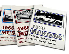 New! 1972 Mustang Illustrated Facts and Specifications Manual Free Shipping 72FB