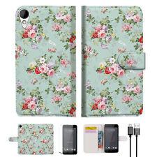 Royal Garden Wallet TPU Case Cover For HTC Desire 825 -- A023