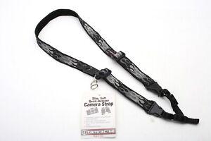 Tamrac N-40 Slim Silver/Gray/Black Flame neck/shoulder Strap w/Quick release+NEW