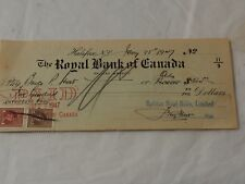 Halifax Meal Mills, ROYAL BANK OF CANADA Negotiatid Check Director fees 1947