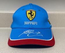 Formula 1 Ferrari Racing Team Cap Hat Driver Signature  NEW