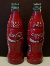 Lot of 2-Coca Cola Commemoration Bottle USA Olympic Team - Torino 2006 - Empty