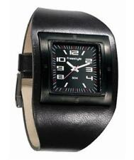 Men's Freestyle RIDING THE LINE Sport Watch Black Leather Band Black Face 116001
