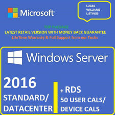 Windows Server 2016 Standard / Datacenter + RDS 50 User / Device Cals ⭐Top Sale⭐