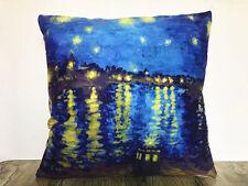 Doctor Who Pillow Case Van Gogh Rhone Cover Tardis Time Throw Case 17 x 17