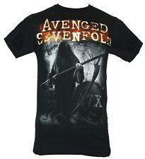 Avenged Sevenfold A7X Mens T-Shirt - Reaper hidden in Shadow Image