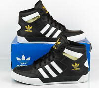 Adidas Hard Court Hi Black Gold Basketball Athletic Shoes FV5327 Men's size 9.5