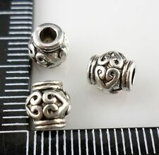 24pcs Tibetan Silver Hole 2mm Spacer Beads DIY Jewelry Beading 6x6.5mm
