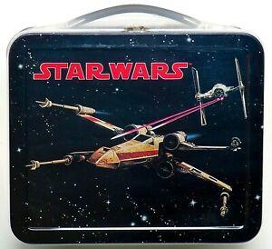 1998 Star Wars Hallmark School Days Mini Retro Metal Lunch Box #'d 3E/7523