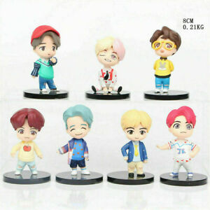 FOR BTS Boys Mini Idol Deluxe Figure 7 PCS Cake Topper Birthday Party Supplies