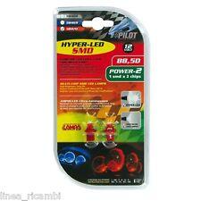 58470  12V Hyper-Led 2 - 1 SMD x 2 chips - B8,5d - 2 pz - D/Blister - Rosso