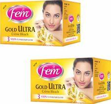 FEM GOLD ULTRA CREAM BLEACH 30 gms each FAIRER LOOK PACK OF 2