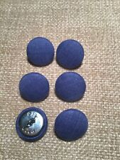 Denim Blue 30L/19mm Fabric Covered Buttons Craft Sewing Upholstery