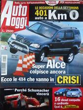 Auto Oggi n°10 2001 Toyota Yaris TS Ford Focus TDci Alfa 147  [P45]