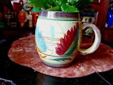 Vintage Glyn Colledge Denby Studio Pottery Hand Painted Half Pint Tankard