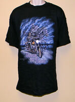 Fruit of the Loom Men's Black Biker Seamless Shirt Short Sleeve 100% Cotton XXL