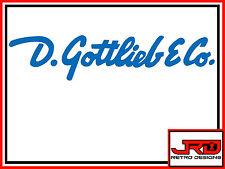 D. Gottlieb & Co. Adesivo Vinile in Blu