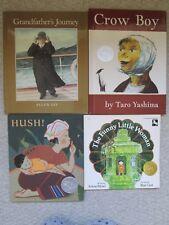 ASIAN CALDECOTT HC LOT 4~Funny Little Woman~Hush~Crow Boy~Grandfather's Journey~