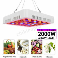 2000W LED Grow Light Hydroponic Full Spectrum Indoor Flower Plant Lamp Panel GD