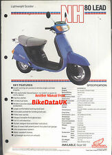 Genuine Honda-UK NH80MD Lead (1983->) Dealership Sales Brochure NH 80 MD AG07