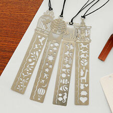 Hot Sell 4 Pcs Novelty Ultra-thin Hollow Metal Fairy TaleWorld Ruler Bookmark