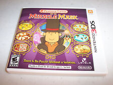 Professor Layton and the Miracle Mask (Nintendo 3DS) XL 2DS Game w/Case & Manual