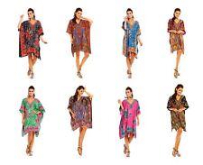 Looking Glam EW Ladies Plus Size Kimono Tribal Ethnic Print Tunic Kaftan Evening