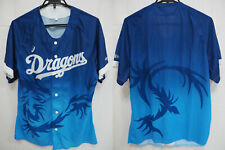 2017 Chunichi Dragons Summer Limited Baseball Jersey Shirt Asics Blue NPB NEW