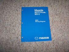 2003 Mazda MX-5 MX5 Miata Factory Original Electrical Wiring Diagram Manual Book