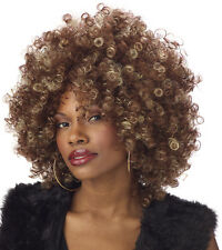 Adult Afro Fine Foxy Fro Disco Costume Wig