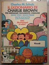 IL DIZIONARIO DI CHARLIE BROWN PER IMPARARE FACILMENTE L'INGLESE 1975