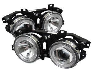 BMW 89-95 E34 / 88-94 E32 Dual Halo Clear Projector Headlights