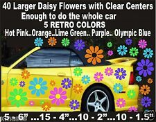VW 40 LARGER DAISY FLOWERS STICKERS DECAL TRUCK CAR VEHICLE patternsrus