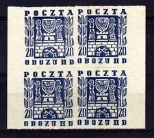 POLOGNE Oflag Camp de Gross Born Fischer timbre n° 19 neuf sans gomme Bloc de 4