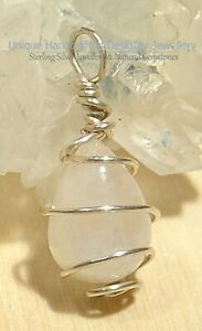 Rainbow Moonstone Sterling Silver 925 Pendant Handmade Jewellery 0721-9