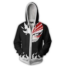 Bleach Hollowification 3D Print Zipper Hoodie Kurosaki Ichigo Sweatshirt Coat