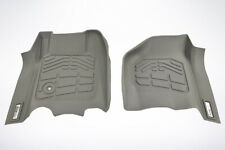 Front Row Floor Mats in Gray for 1999 - 2007 Ford Super Duty Super Cab
