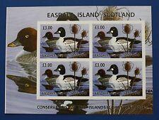 Scottland (ES01) 2004 Easdale Island Waterfowl Imperforate Stamp Sheet (MNH)