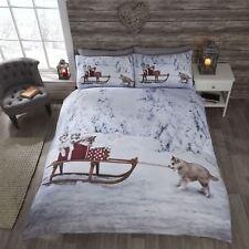 9913db5428e57 Rapport Christmas Huskies Husky Dog Parure de lit Simple avec Housse De.