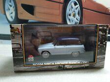 IXO  MODELS - 1961 SIMCA ARONDE RANCH - BLUE - 1/43 SCALE MODEL CAR N0104