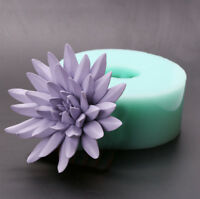 Silica gel 3D molds Purple Lotus silicone soap mold candle mold aroma mould