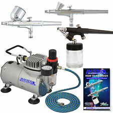 Master Airbrush KIT-SP2-20 Kit with Compressor and Air Filter/Regulator.