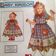 Daisy Kingdom Girls & Matching Dolls Dress Pattern Simplicity 9354 Uncut Sz 3-6