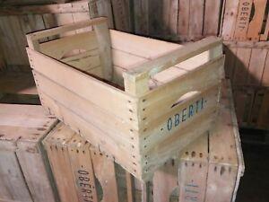 Set 10 cassette frutta legno veronesi vintage in faggio 51x31x27 anni 60-70-80