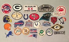 Vintage Variety Lot of 25 PATCHES Football Teams Sports Logo Iron On Cap Jacket