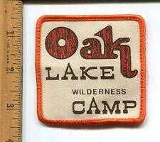 VINTAGE ADVERTISING  OAKLAKE  WILDERNESS CAMP   JACKET PATCH -UNUSED