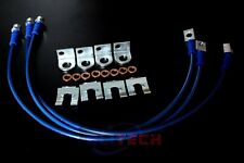 New Jeep TJ YJ & XJ 87-06 Stainless FRONT And REAR Extended Brake Line Kit Blue