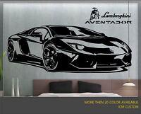 Lamborghini Aventador Sport Car Removable Wall Vinyl Decal Sticker